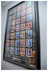 Rare Framed NHL Stanley Cup Collection