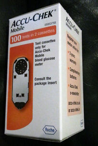 Accu-chek mobile 100 tests in 2 cassettes