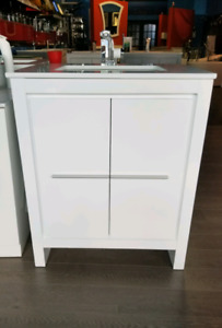 "30"" Solid Wood Vanity w/ Stone countertop  - Hot Deal!"