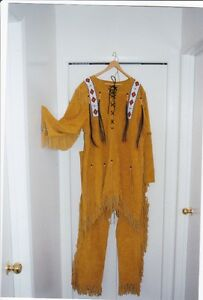Suede Leather Replica Iroquois Warrior Suit Made in Saskatchewan