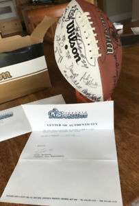 Signed 1997 Greycup Argos football - letter of authenticity