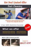 Duct Cleaning Awesome Offer $99.99