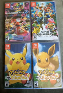 $80 each for various Brand New SEALED Nintendo Switch games.