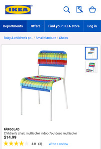 4 Kids Ikea rainbow chairs