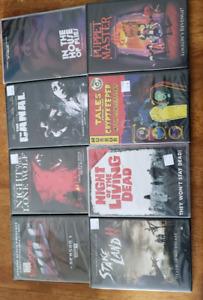 8 brand new,  sealed horror/thriller dvd's