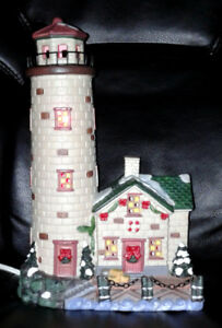 Ceramic Lighthouse Lamp