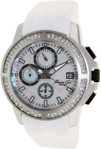 Kenneth Cole Womens KC2798 Mother-Of-Pearl Chronograph Watch