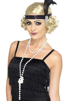 20er Jahre Perlen Halskette NEU - Zubehör Accessoire Karneval Fasching