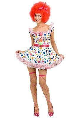Clownin Around Polka Dot Clown Dress for Teens/Adult size XS New by Charades (Teen Clown Costumes)