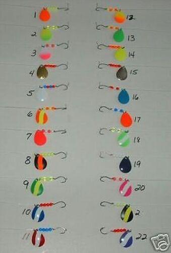 22 WALLEYE SPINNERS/RIGS MINNOW/LEECH TROLLING
