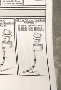Lot/8 Dekko ISIS LED 22W Pool Lights D1PUSL22W 90-000103