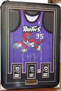 Toronto Raptors Inaugural Season Jersey Signed By Marcus Camby