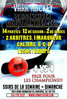 ligue 4vs4 hockey balle / dek hockey @complexehb.com