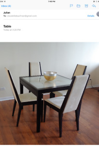 ELEGANT Dining Table doubles in length ! Great for small space !