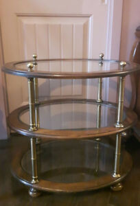 Oval-shaped Decorator Table