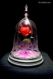 NorthClass Crystal/Glass Pink Rose Bell Jar(Beauty&The Beast)