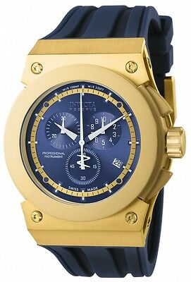 Swiss Made Invicta 12009 Akula Reserve Chronograph Gold Tone Mens Watch