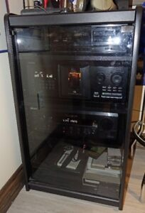 Sony 300 Disc CD Changer & Receiver, Stand & 2 Speakers
