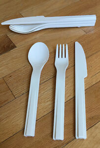 Tupperware Plastic Snap Together Cutlery