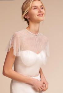 Bhldn / Anthropologie gleam capelet bridal accessory