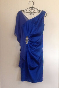 BRAND NEW Sapphire Blue Ruched Rhiestone Formal Dress Kitchener / Waterloo Kitchener Area image 3