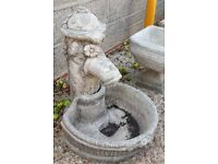 Reconstituted Stone Garden Planter In The Shape Of A Water Hand-Pump - Feature