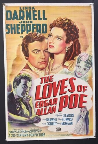 The Loves of Edgar Allen Poe Original Movie Poster - Darnell *Hollywood Posters*