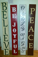 Christmas Outdoor Rustic Wood Signs
