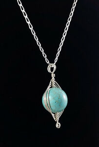 Brand New Turquoise And Silver Necklace