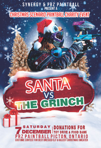 Santa Vs Grinch Paintball Event