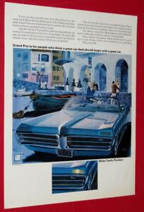 BEAUTIFUL 1968 PONTIAC GRAND PRIX VINTAGE AD - RETRO AMERICAN 68