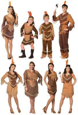 Herren Kostüme Sexy (Indianer Indianerin Kinder Mädchen Herren Damen Indianerkostüm Kostüm Kleid Sexy)