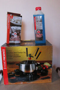 Fondue Set Stainless Steel 15 Pieces, Kitchen, Dining, Cabin