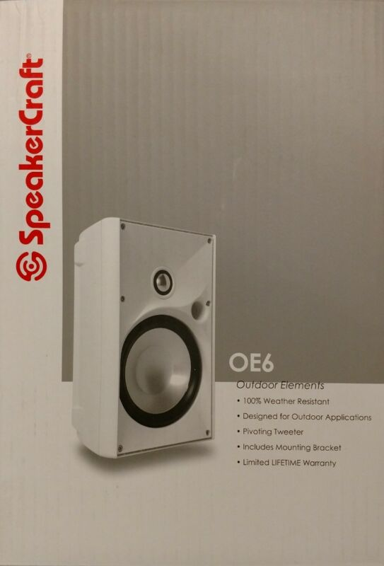 "SpeakerCraft Outdoor Elements Series OE6 Three 6.5"" 2-Way Outdoor Speaker (Each) Black ASM80636"