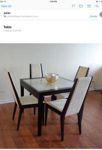 DINING TABLE DOUBLES in size  !!   **  AMAZING PRICE **