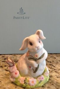 PartyLite Springtime Bunny Snuffer & Candle Holder