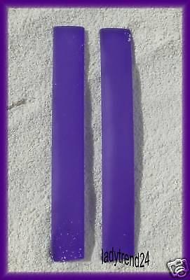 2 x 7,5cm Kautschukband Wechselring Perle Bead lila 892