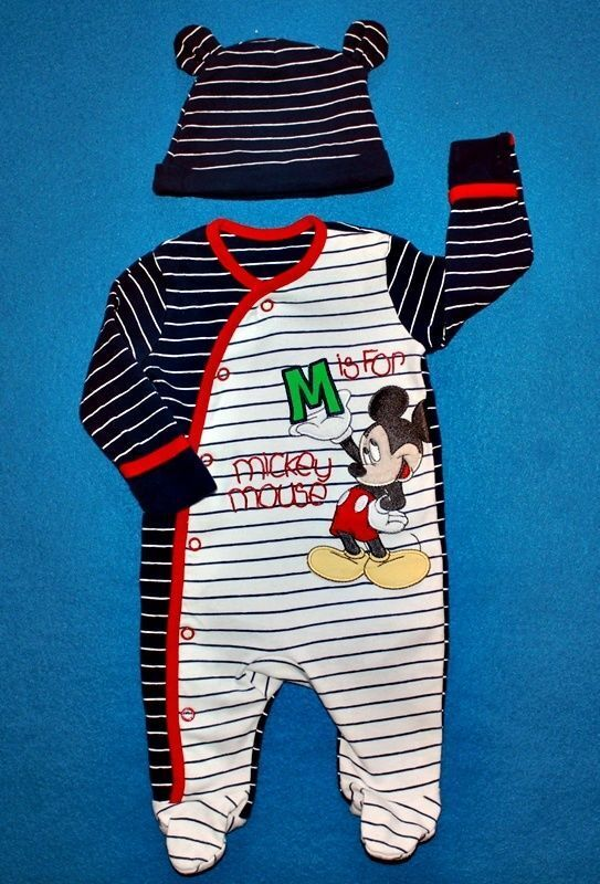Boys Disney Mickey Mouse Sleepsuits