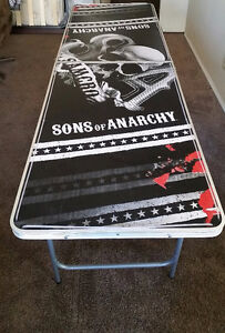 Portable Sons Of Anarchy Beer Pong Table
