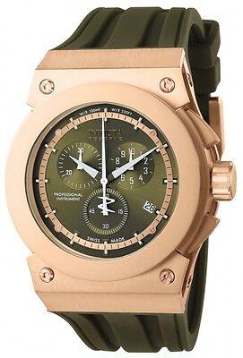 Swiss Made Invicta 12008 Akula Reserve Chronograph Gold Tone Mens Watch