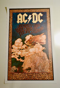 AC/DC Concert Poster signed by Bob Masse