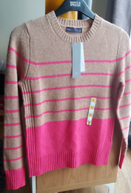 Marks & spencer M&S Camel Mix Crew Lambswool Jumper Size 6 BNWT