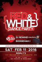 RED & WHITE Valentine's Dance Party at Dooly's Yarmouth