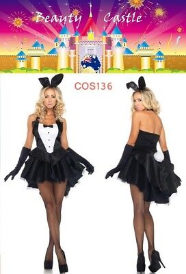 Cute Rabbit Costume Sexy Fancy Tux & Tails Bunny Halloween Party Dress ()
