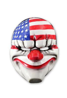 Payday 2 Maske Dallas - Gamer Kostüm Halloween Fasching - Horror Clown - NEU - Dallas Kostüm