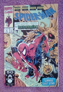 Marvel Comics Spider-Man Issue 6 Jan 1991  Part 1 of 2 McFarlane