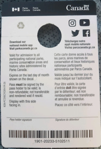 Parks canada annual pass