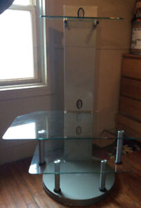 One T.V Stand Unbreakable Glass