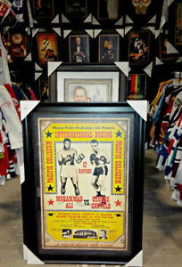 GEORGE CHUVALO vs MUHAMMAD ALI  HEAVY WEIGHT CHAMPIONSHIP POSTER