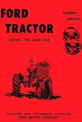 Ford 700 900 740 950 960 Tractor Owner Operators Manual